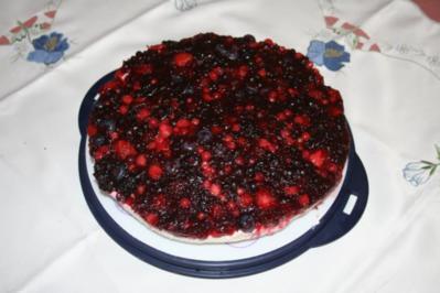 Philadelfia-Rote -Grütze-Torte - Rezept