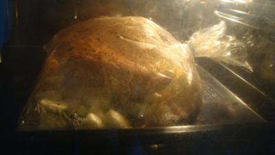 Hühnchen und Gemüse aus dem Bratschlauch - Rezept