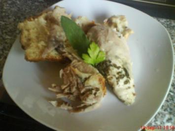 Hähnchen im Brotteig gebacken - Rezept
