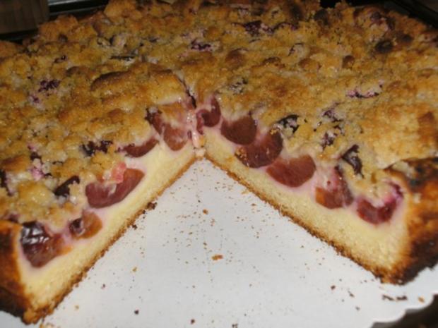 Zwetschgenkuchen mit Streusel auf Quark - Rezept - Bild Nr. 3