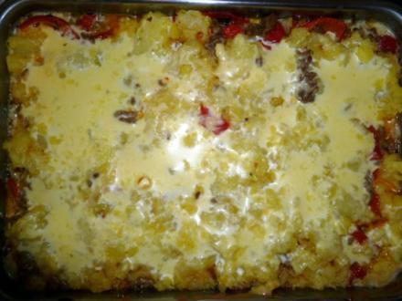 Hackfleisch-Käse-Püree - Rezept