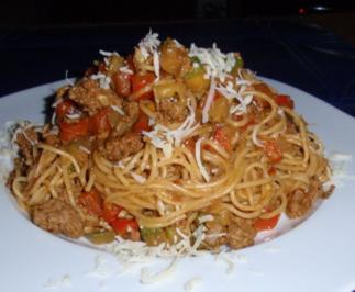 Schnelle Gemüse-Tatar- Pasta - Rezept