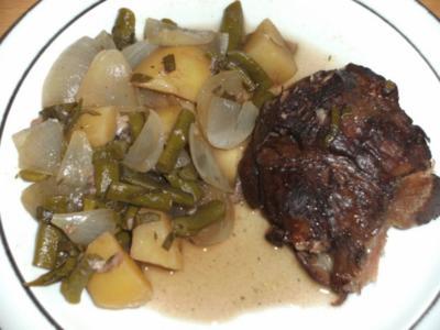 Fleisch: Lammkeule geschmort - Rezept