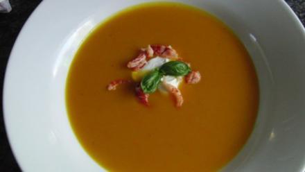 Kürbissuppe mit Ingwer - Rezept