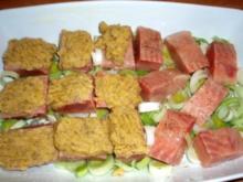 Fisch: Lachs mit Dillkartoffelteig überbacken - Rezept