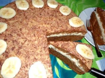 Torten: Kaffeekuchen mit Bananensahne - Rezept