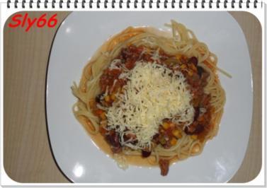 Nudelgerichte:Spaghetti mit Chili con Carne - Rezept
