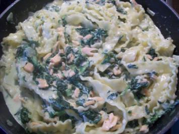 Lachs - Spinat - Soße - Rezept