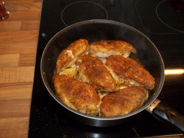 Scharfes Curryhuhn in Erbsen - Zwiebel - Sahnesauce - Rezept - Bild Nr. 3