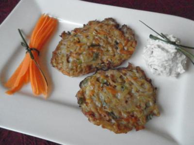 Gemüseschnitzel mit Schmand - Röstzwiebel - Dip ... oder die Reste von gestern ;-) - Rezept
