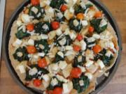 Spinat-Birnen-Pizza - Rezept