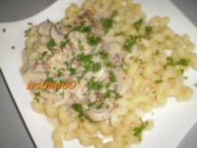 Cellentani an Champignon - Sahne - Soße - Rezept