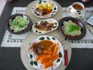 Resteverwertung : Putenbraten vom Vortag mit Kartoffeln und Salat - Rezept