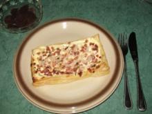 Snack - Mein schneller Blätterteig-Flammkuchen - Rezept