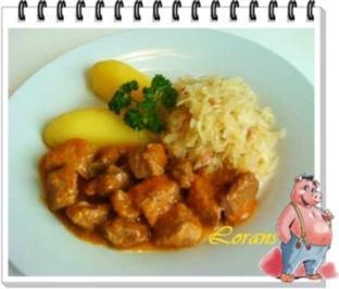 Schweinegulasch - Rezept