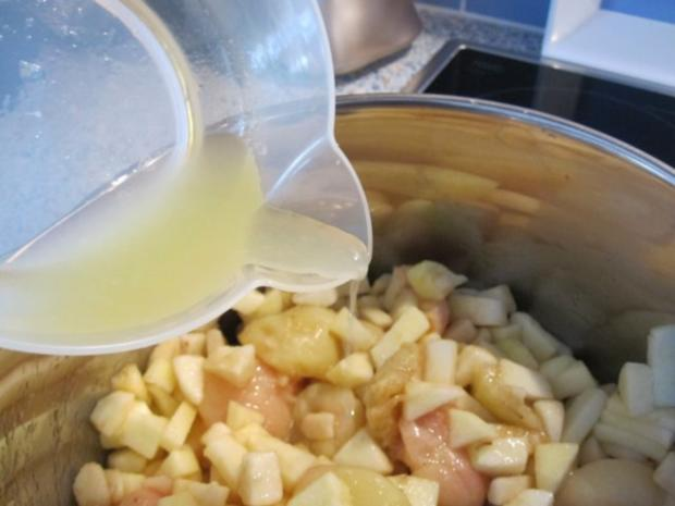 Weinbergpfirsich-Apfel-Marmelade mit Erdbeerminze und Lavendel - Rezept - Bild Nr. 6