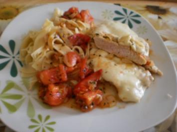 Gratinierte Schnitzel à la Tomate-Mozzarella - Rezept