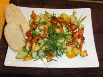 Rezept: Salat mit Chili-King-Prawns