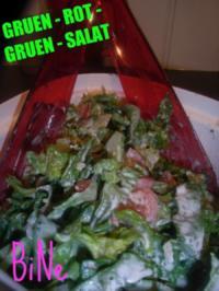 BiNe` S GRUEN - ROT - GRUEN - SALAT - Rezept
