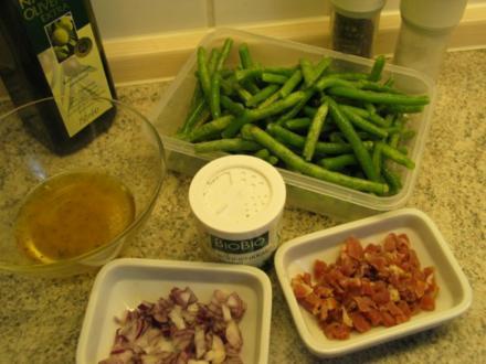 Beilagen:  Speckbohnen auf böhmische Art - Rezept