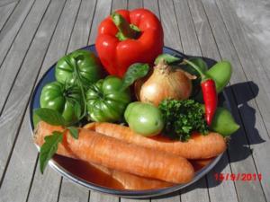Salat aus grünen Tomaten - Rezept