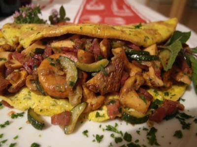 Herbstliches Omelett - Rezept