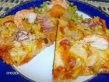 Pizza 3-fach belegt - Rezept