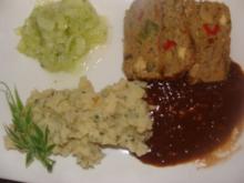 Fleisch : Hackfleisch - Gemüsekuchen - Rezept
