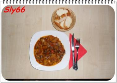 Eintopf:Gulasch Allerlei ohne Fleisch und viel Wein - Rezept