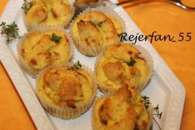 Kartoffelmuffins mit Röstzwiebeln - Rezept