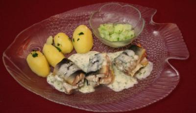 Aal grün in Dill-Sahnesoße mit Petersilienkartoffeln - Rezept