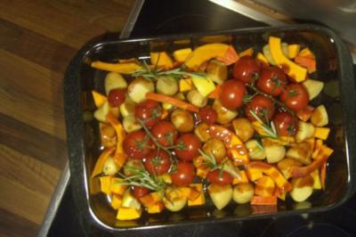 Hähnchen-Kartoffel-Tomaten-Pfanne........ - Rezept