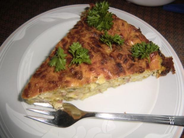 Lauch-Zwiebelkuchen ohne Boden - Rezept - Bild Nr. 7