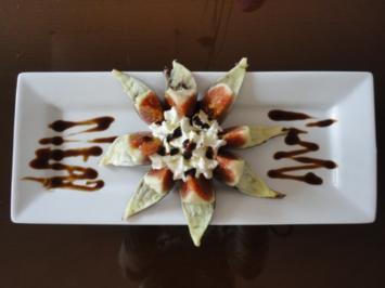Feigen Blümchen mit Balsamico Creme - Rezept