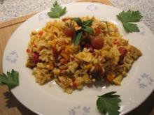 Kürbis-Reis-Hähnchen-Pfanne - Rezept