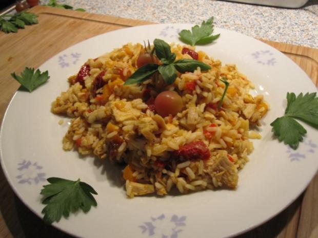 Kürbis-Reis-Hähnchen-Pfanne - Rezept - Bild Nr. 2