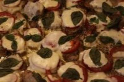Lende mit Tomate-Mozzarella überbacken - Rezept