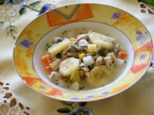 Fruchtiges Hühnersüppchen - Rezept