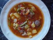 Gulaschtopf mit Tomaten und Bohnen - Rezept