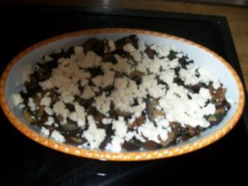 Gratin von Aubergine und Austernpilzen - Rezept