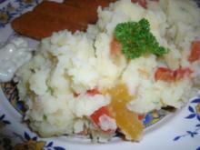 Kartoffelpüree mit eingelegter Paprika - Rezept