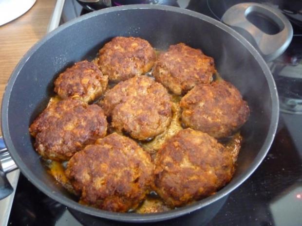 Hackfleisch : Fleischküchle mit Gurkensalat und Salzkartoffeln - Rezept - Bild Nr. 2