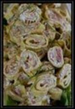 Räucherlachsröllchen mit eingelegtem Ingwer - Rezept
