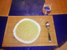 Suppe: Mediterane Nudelsuppe mit roten Linsen - Rezept