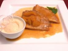Crêpe Suzette mit Vanilleeis - Rezept