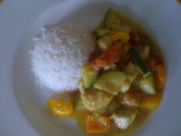 Curry-Fisch-Gemüse-Pfanne - Rezept