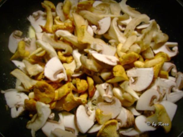 Fleisch: Gratiniertes  Minutensteak mit gemischten Pilzen - Rezept - Bild Nr. 3