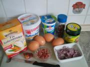Eierspeisen: Eier in bunter Schinken-Pfeffer-Sahnesoße - Rezept