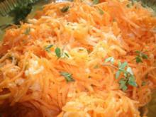 Möhren- Apfelrohkost mit Ingwer und Zitronenthymian - Rezept