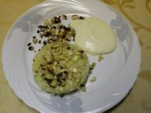 Gebackene Cashew-Ananas mit Vanillecreme - Rezept
